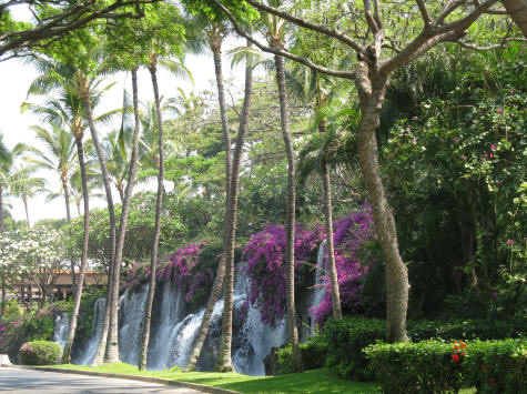 Waterfall at the Grand Wailea Resort in Maui